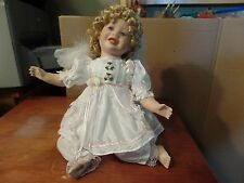 "11"" Tall Sitting Porcelain Angel Doll #1796"