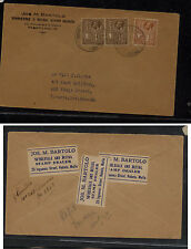 Malta , Rabaio   131,133  on  cover to  Canada  from stamp dealer        AT0519