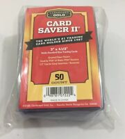 50 CARD SAVER GOLD 2 / II Baseball Trading Card Plastic Holders Protector Sleeve