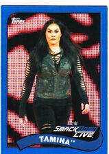 2018 Topps WWE Heritage Wrestling #78 TAMMINA SP BLUE VERSION #15/99 MADE