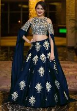 Wedding Wear Velvet Lehenga Indian Pakistani Bollywood Designer Sari Ethnic New