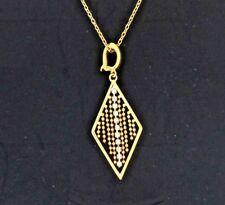"Joan Rivers Diamond Shaped Enhancer Pendant Look Of Gold 18"" Chain"