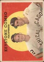 1959 Topps Baseball Card #408 Keystone Combo/Fox/Aparicio -VG