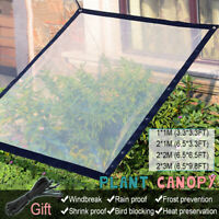 Plant Canopy Rainproof Cloth Cover Sunblock Shade Transparent Net Balcony Garden