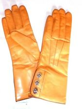 $168 COACH Women's Cashmere Lined Leather Basic 8 honey gloves 82825 NWT new