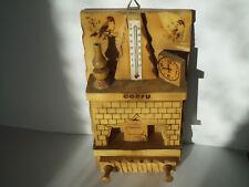 Olivewood  Decorative Treen WallHung Wooden Box, Keys-Holder & Thermometer CORFU