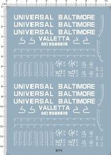 Super Detail Up Military Ship Water Line universal Baltimore Marking Model Decal
