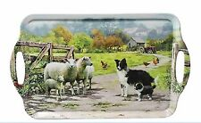 Sheepdog and Sheep Design Decorative Serving Tray  Country farming Gift
