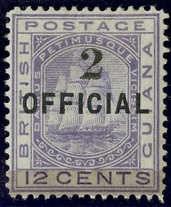 British Guiana  1881  Scott #  99  Mint Lightly Hinged