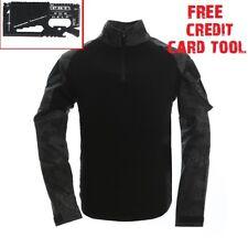 Tactical Long Sleeve T Shirt Combat Fishing Airsoft Survival Credit Card Tool 2xl