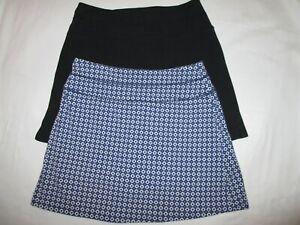 2 Great Northwest Indigo Golf/Tennis Stretch Skirts Skorts Shorts blue Medium