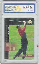 2001 Upper Deck Golf #176 Tiger Woods Rookie Card - Tour Time WCG 10 GEM-MT