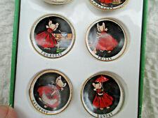 Id Display Dolls! Sunbonnet Miniature Porcelain Plates Days Week Shackman Ltd Ed