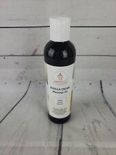 Vanilla Cream Edible Massage Oil Jojoba + Almond & Coconut Oil 100% Natural-De7-