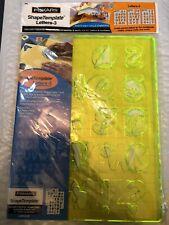 "3 Fiskars Shape Cutter Craft Templates 1 1/2"" Letters & Numbers # 4885 Scrapbook"