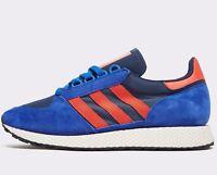 🔥 Adidas Originals Forest Grove ® ( Men Size UK 12 EUR 47.5 ) Power Blue Black