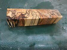 MM-SPALTED  MAPLE  DELUXE  KNIFE BLOCK/SCALES/ CALLS/ PEN BLANKS--M--38