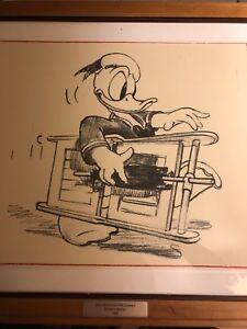 1940 Rare Walt Disney Story Sketch Donald's Vacation Animation Drawling