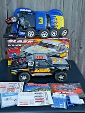 TRAXXAS SLASH 4X4 BRUSHLESS GREG ADLER 1/10 TRUCK & ACCESSORIES LOT