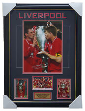 Liverpool Signed 2005 Champions League Photo Framed - Steven Gerrard & Carraher