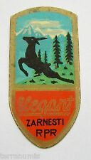 g850 Romania 1950' RPR Zarnesti ELEGANT brass bicycle bike badge logo emblem RRR