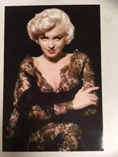 Postcard Marilyn Monroe 1952 in lace colour