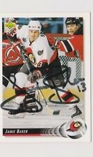 92/93 Upper Deck Jamie Baker Ottawa Senators Autographed Hockey Card