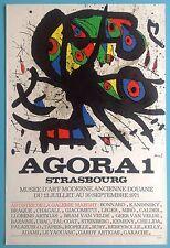 Joan MIRO Affiche Originale Lithographie de 1971 signée 46ans Agora Strasbourg