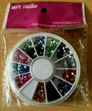 Nail Art Wheel 3D Rhinestone  Gems Decoration Crystals Pearls Decor Beads
