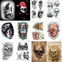 Sketch Book of Skull for Tattoo Stencil Flash Designs Art 64 pages