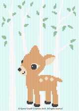 Crochet Patterns - FAWN IN FOREST Afghan Pattern *EASY*