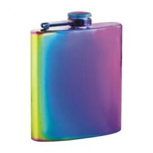 6oz Rainbow Hip Flask Ideal Birthday Christmas Wedding present