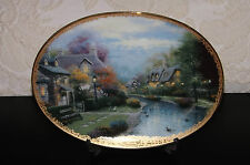 Bradford Exchange Thomas Kinkade's Lamplight Village Lamplight Brooke Plate