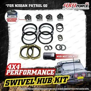 Swivel Hub Seal + JP King Pin Bearing + Socket Kit for Nissan Patrol GQ Y60