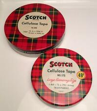 1950s Scotch cellulose tape puck tins