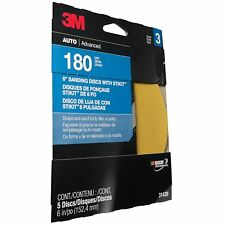 3M 31439 Sanding Discs, 6 inch, 180 Grit (Pack of 5)