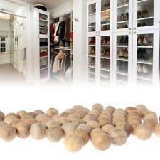 100 Natural Cedar Wood Moth Balls Camphor Repellent Wardrobe Clothes Drawer 18mm