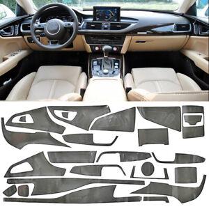 Innenraum Dekor Cockpit Innen Aufkleber Vinyl 5D Carbon Optik Für Audi A7 11-18