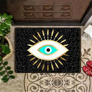 Vintage Evil Eye Welcome Mat Front Entrance Door Mat Porch Home Decor 3 Sizes