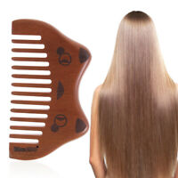 Fine Coarse Teeth Wooden Comb Mustaches Styling Tool Nanmu Beard Hair Brush