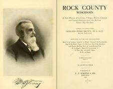 1908 ROCK County, Wisconsin WI, History and Genealogy Family Tree DVD CD B20
