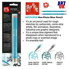 Caran d'Ache Sketcher Non-Photo Blue Pencil Set of 2 Cartoon Artists Manga Anime