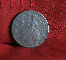 1751 Great Britain 1/2 Penny Half World Coin Britania Seated UK England RARE