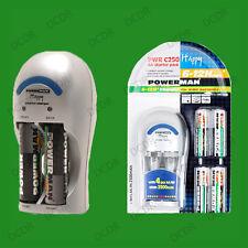 AA & AAA NiMH & Ni-Cd Battery Charger, Includes 4x AA 2500mAh NiMH Batteries