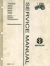 NEW HOLLAND TRACTOR 4835 5635 6635 7635 SERVICE WORKSHOP MANUAL