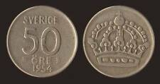 SVEZIA SWEDEN 50 ORE 1954 ARGENTO SILVER