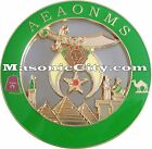 Z-80 AEAONMS Shriner Auto Emblem Shrine Temple FreeMasonry Mason Masonic Car