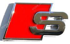 "3D AUDI ""S"" CHROME BADGE DECAL EMBLEM SELF-ADHESIVE"