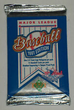 One (1) 1991 UPPER DECK HIGH SERIES BASEBALL FOIL PACK - Find the Hank Aaron