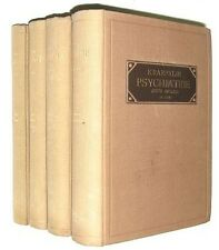 KRAEPELIN, Emil. Psychiatrie. 1909-1915. In four volumes 8th EDITION Revised